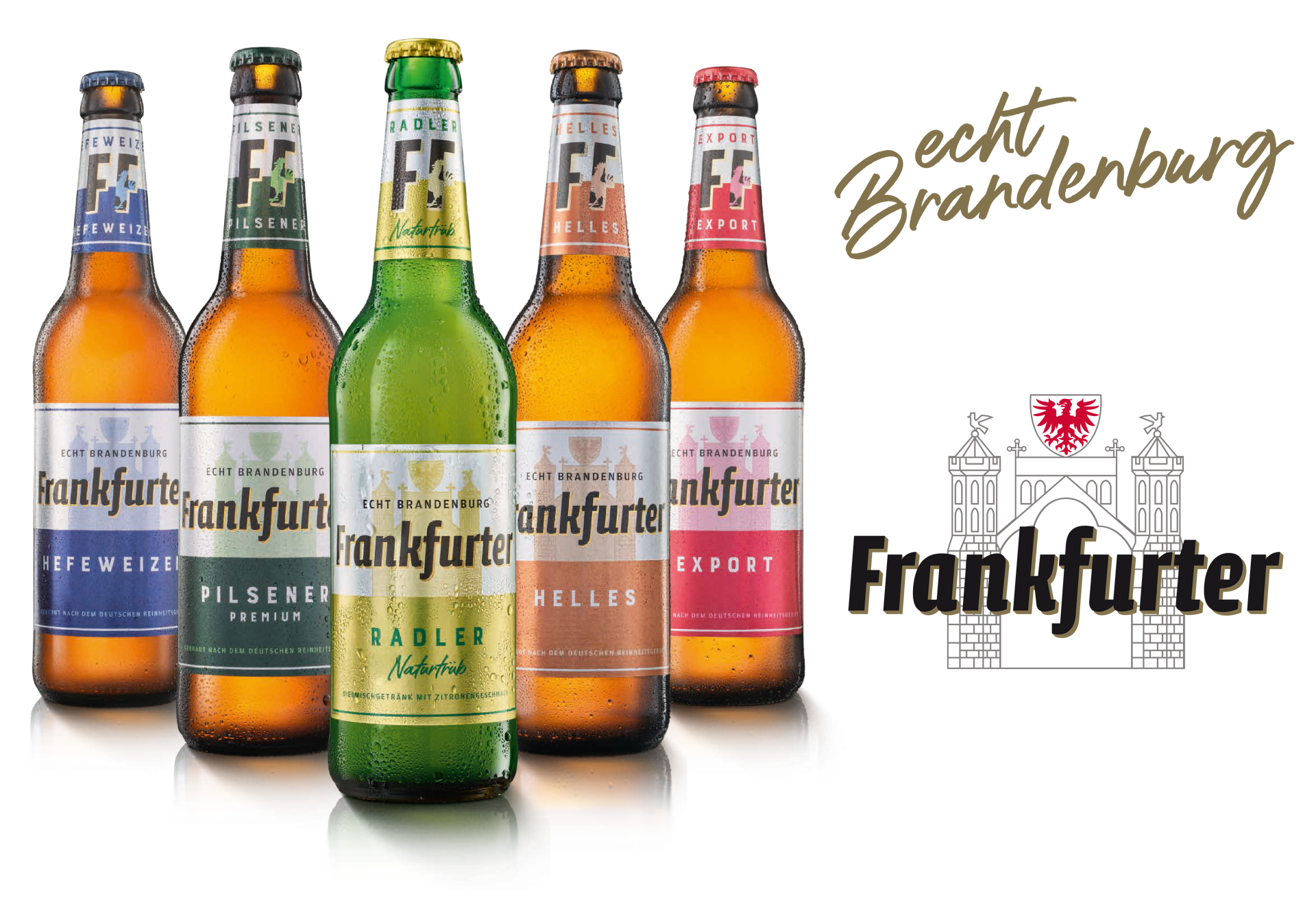 Flaschen Frankfurter mit Logo vom Frankfurter Brauhaus